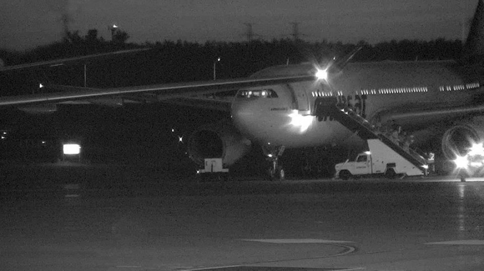 Air Transat on the tarmac at the Ottawa International Airport on July 31, 2017 at approximately 8:45 p.m.